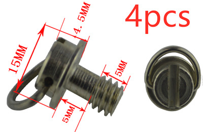 4pcs 1/4 inch Iron Camera Screw D ring for Tripod Monopod Quick Release Plate