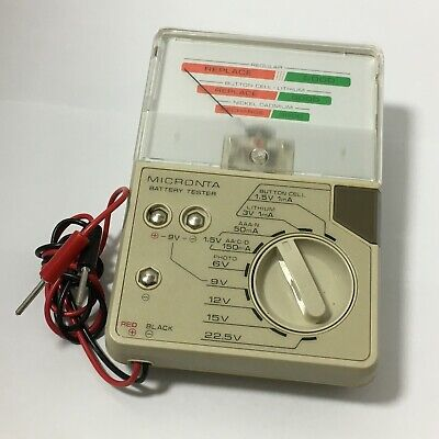 Good Working Fancy Used Radio Shack Micronta 22-032A Battery Tester Tandy