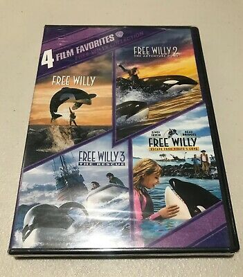 4 FILM FAVORITES FREE WILLY COLLECTION New DVD 1 2 3 4