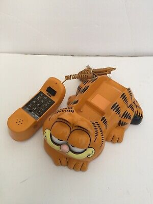 Garfield Tyco Telephone Vintage Eyes Open & Close 80's Phone