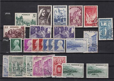 monaco 1944-46 mounted mint + used  stamps  ref 11659