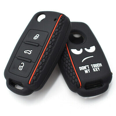 Silicone Key Case Remote Fob Cover For VW POLO Bora Beetle Tiguan Passat Golf