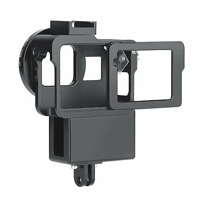 Vlog Case Housing Shell Frame for GoPro Hero 7/6/5 Vlogging Cage Cover With Mic