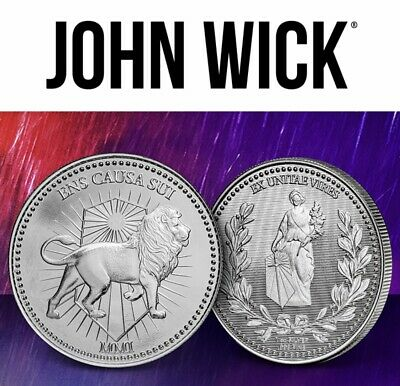 John Wick Continental .999 1oz Pure Silver Round Coin In Hand Ready To Ship