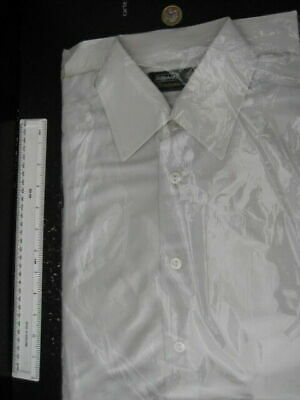 60S 70S Whiye Nylon Marks And Spencers St Michaels Mens Shirt 14 1/2 In Pack