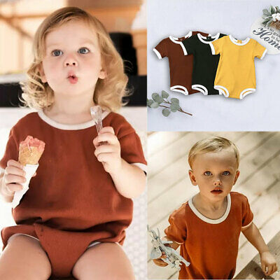 AU Newborn Baby Boy Girl Kid Romper Bodysuit Knitting Pit Outfit Sumsuit Clothes