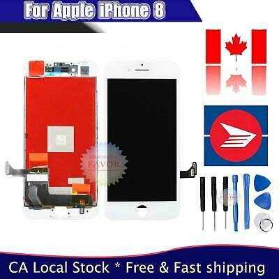 Assembly White For Apple iPhone 8 LCD Screen & Digitizer 3D Touch Replacement CA