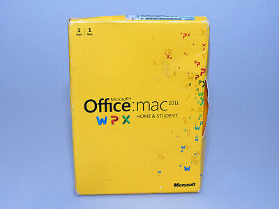 Microsoft Office 2011 for Mac Home and Student 1 user 1 mac GENUINE GZA-00136