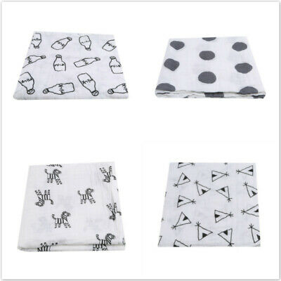 Toddlers Blanket Bedding For Crib Stroller Car Seat Gauze Wrap Muslin Casual BS