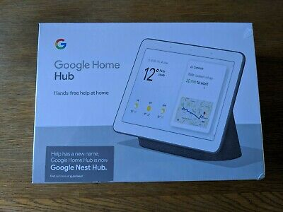 Google Home Hub (Charcoal) - new, boxed and unopened (GA00516GB)