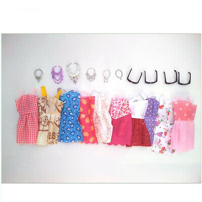 For Barbie Doll Dresses, Shoes and jewellery Clothes Accessories Choose Random H