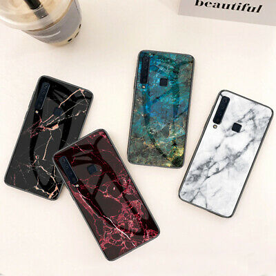 Luxury Marble Tempered Glass Case Cover For Samsung Galaxy A10 A30 A50 A70 2019