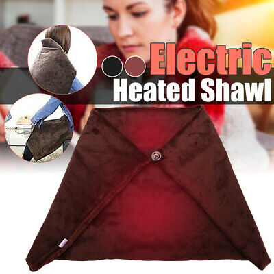 USB Powered Soft Heated Shawl Winter Electric Warming Heating Blanket Pad !