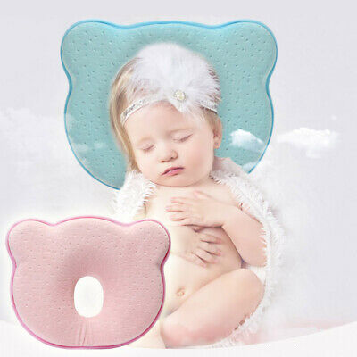 Baby Newborn Infant Pillow Memory Foam Positioner Prevent Flat Head Ergonomic