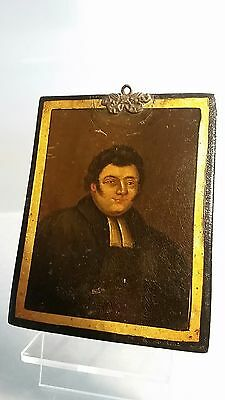 miniature art portrait on board possibly from Georgian period circa 1820