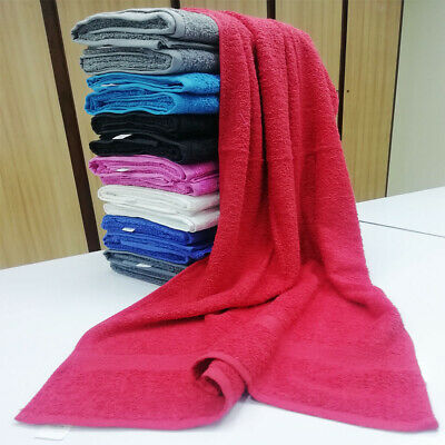2x Super Jumbo Bath Sheets Combed Towels Large Size W80 x L140CM Bath Sheet