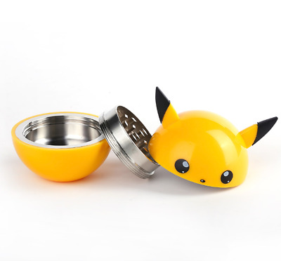 Pikachu Design Smoke Grinder Herb Tobacco Grinders Hand Crank Herbal AU STOCK