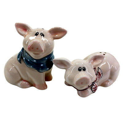 French Country Collectable Novelty Kitchen Dining PIGS Salt and Pepper Set New