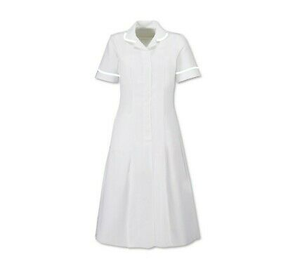* Ladies HP370 Dress White with White Trim-Healthcare Uniform - 96cm Clearance
