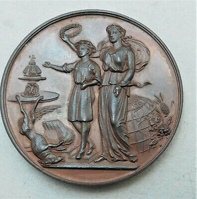 NO RESERVE1895 Victorian Bronze Cookery & Food Exhibition Medal