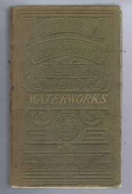 Engineering: Hughes; 1872 Treatise on Waterworks for the Supply of Cities etc.