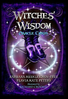 New 48 Witches Wisdom Oracle Cards Deck Kit Tarot Gothic Fantasy With Guidebook