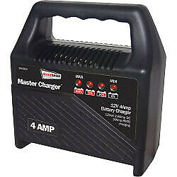 4 Amp Battery Charger 12V Compact Portable Car Motorbike Vehicle Van Fast Slow