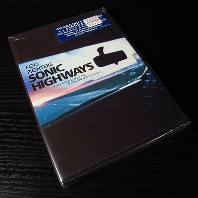 Foo Fighters - Sonic Highways 2015 USA 4xDVD 4-Disc Set NEW Sealed [Region: 1]*