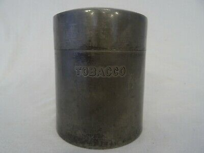 Fenton Brothers Silver Plate Tobacco Tin Container round box ra