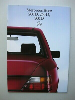 Mercedes 200D 250D 300D prestige brochure text Dutch 32 pages 1984 1985