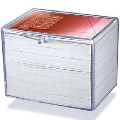Lot of 3 Ultra Pro 150ct Count Hinged Clear Card Storage Box Boxes New