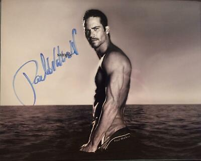 Paul Walker #3 Reprint Signed 8X10 Photo Autographed Christmas Gift Man Cave