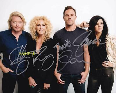 Little Big Town Band #1 Reprint Signed 8X10 Photo Autographed Christmas Man Cave