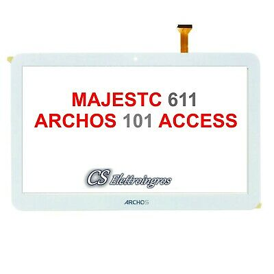 Archos 101 Access 3G Touch screen BIANCO 10.1' digitilizer con biadesivo