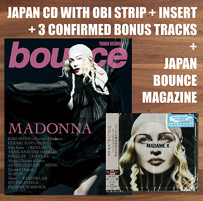 "3x JAPAN BONUS TRACKS + CD WITH OBI + ""BOUNCE"" MAGAZINE! MADONNA ""MADAME X"" 2019"