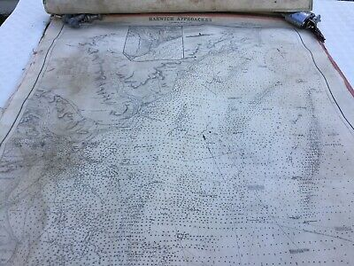 Harwich Approaches, Admiralty Survey 1892 Canvas Map