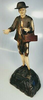 Fine 18th/19th Century North German Hand-Carved Wood Standing Peasant Figure