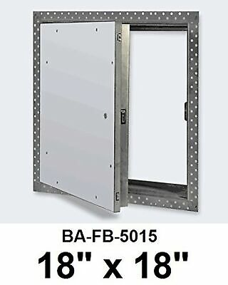 18 x 18 Inch Fire Rated Uninsulated Recessed Door for Drywall