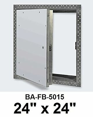 24 x 24 Inch Fire Rated Uninsulated Recessed Door for Drywall