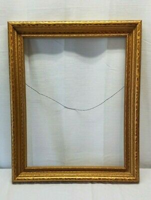 Vintage Antique Gold Gilt Picture Portrait Painting Frame Wood 22x17 Ornate Box