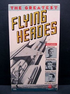 The Greatest Flying Heroes: Superman Flash Gordon Cpt. Marvel etc (VHS 1991) NEW