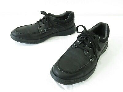 517e2348b9512a Clarks Cotrell Edge Oxfords Mens 12 Black Leather Comfort Lace Up Derby  Shoes