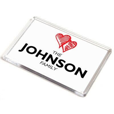 DOOR PLAQUE - Johnson Family - Love Hearts - Surname Gift