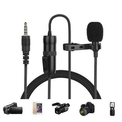 MC-M1 3.5mm Clip On Lapel Microphone Hands Free Wired Capacitive Lavalier Mic