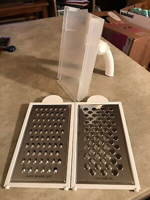 Tupperware Grate N Measure Grater With Extra Shredder Insert