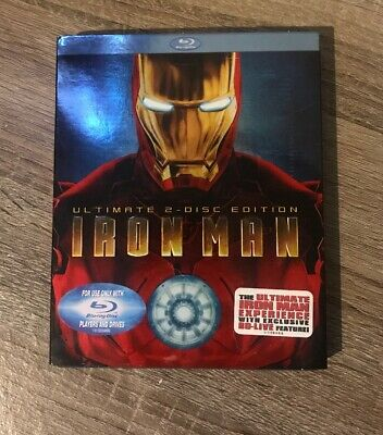 Iron Man (Blu-ray Disc, 2008, 2-Disc Set, Ultimate Edition) With Slipcover