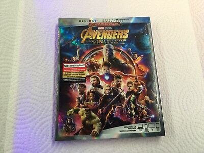 Avengers Infinity War    ( Blu-Ray +  Digital Code ) Brand New Sealed