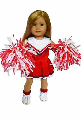 Red Cheerleader Doll Outfit Fits 18 Inch American Girl Doll Clothes