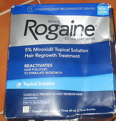 Mens extra strength Rogaine hair growth minoxidil reactivate hair folicles 01/21