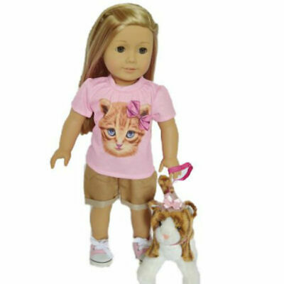 Kitten Doll Outfit Fits 18 Inch American Girl Doll Clothes